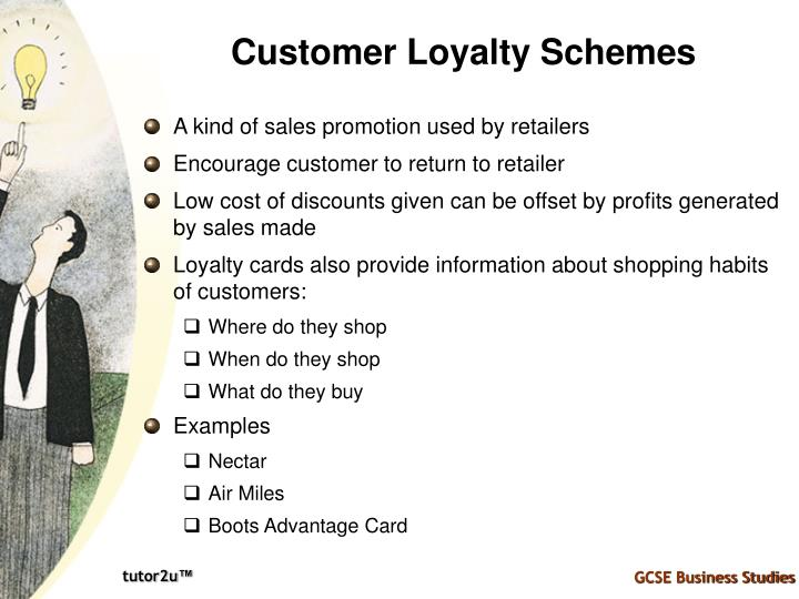 Customer Loyalty Schemes