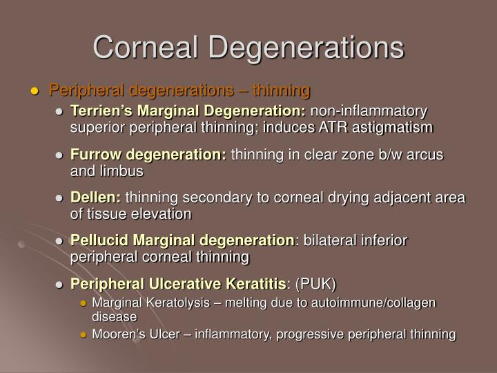 Corneal Degenerations
