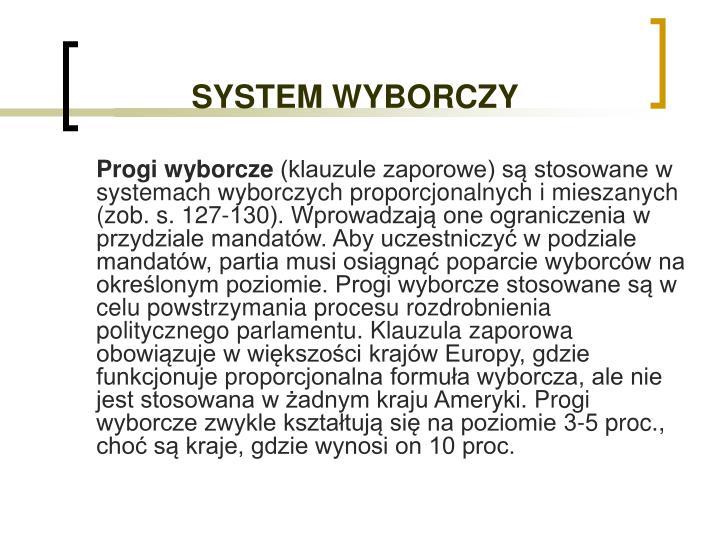 SYSTEM WYBORCZY