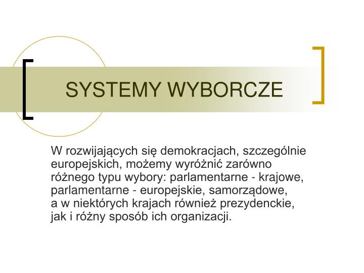 Systemy wyborcze