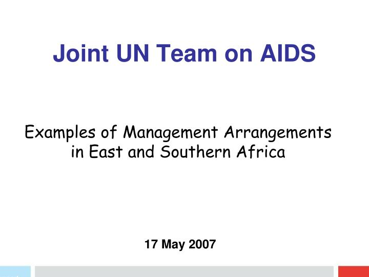 joint un team on aids n.