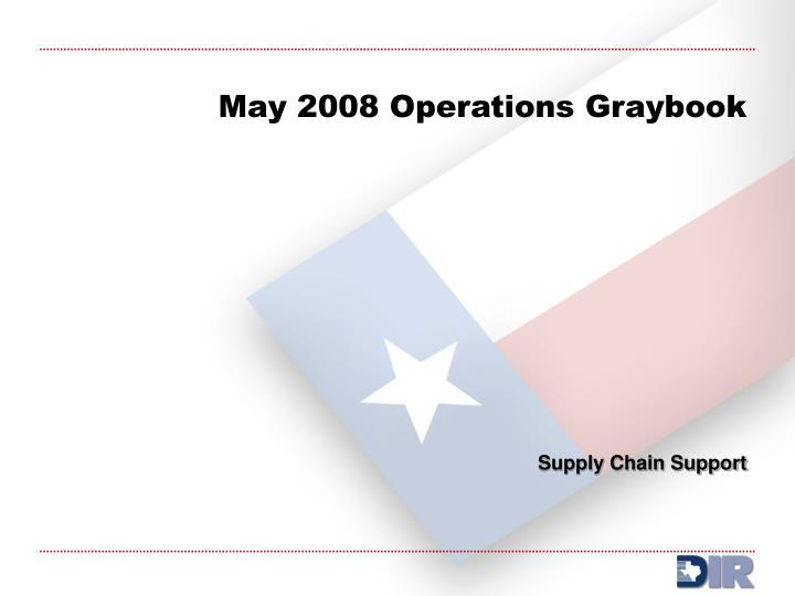 May 2008 Operations Graybook