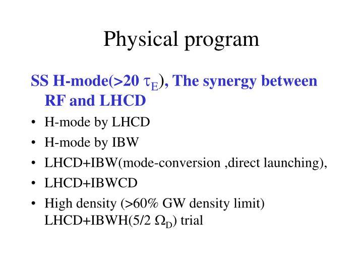 Physical program