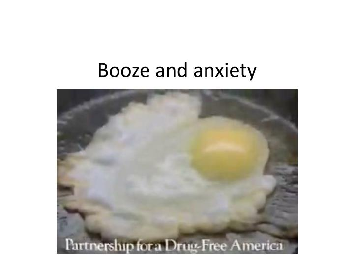 booze and anxiety n.