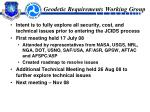 geodetic requirements working group