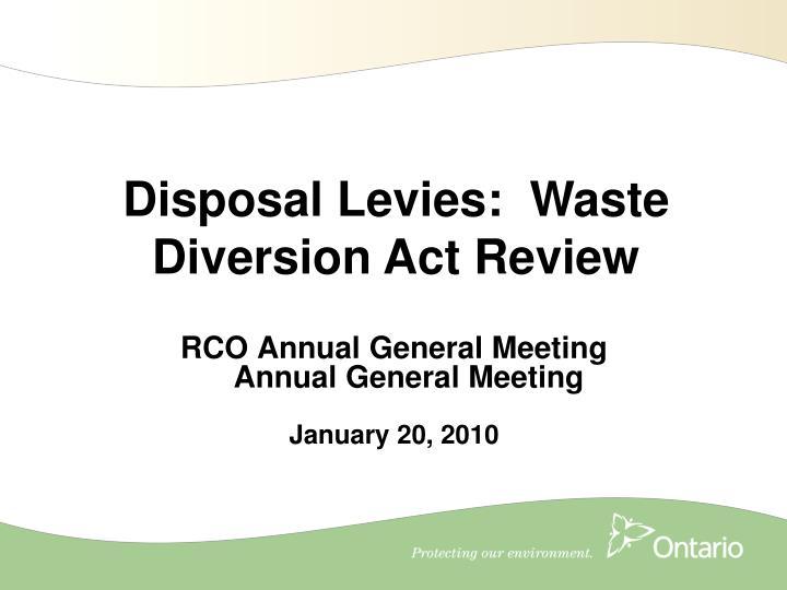 rco annual general meeting annual general meeting january 20 2010 n.