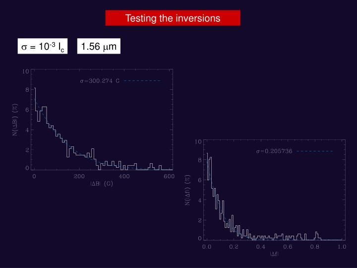 Testing the inversions
