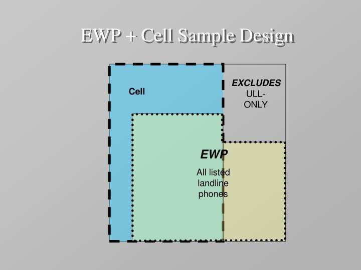 EWP + Cell Sample Design