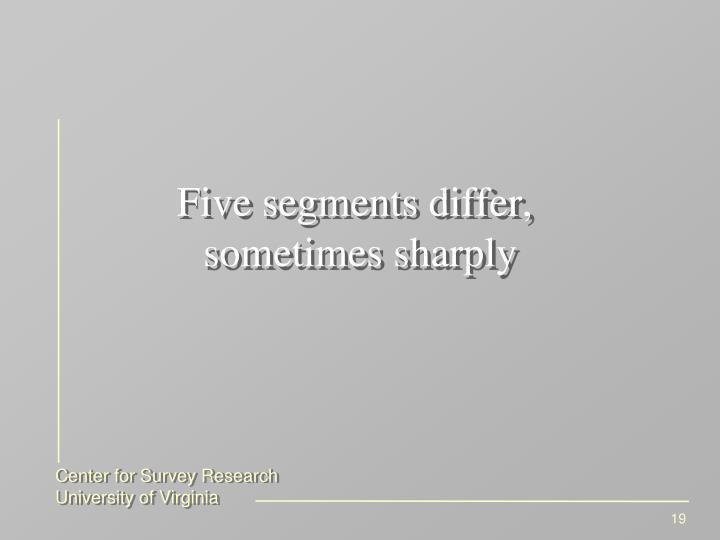 Five segments differ,