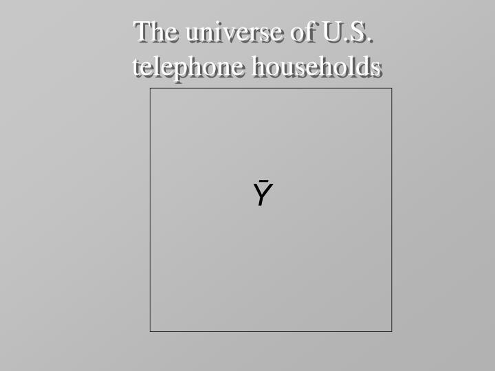The universe of U.S.