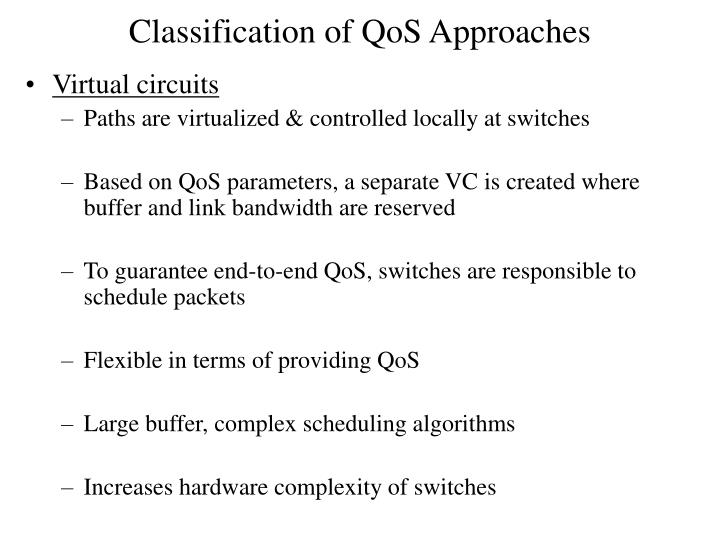 Classification of QoS Approaches