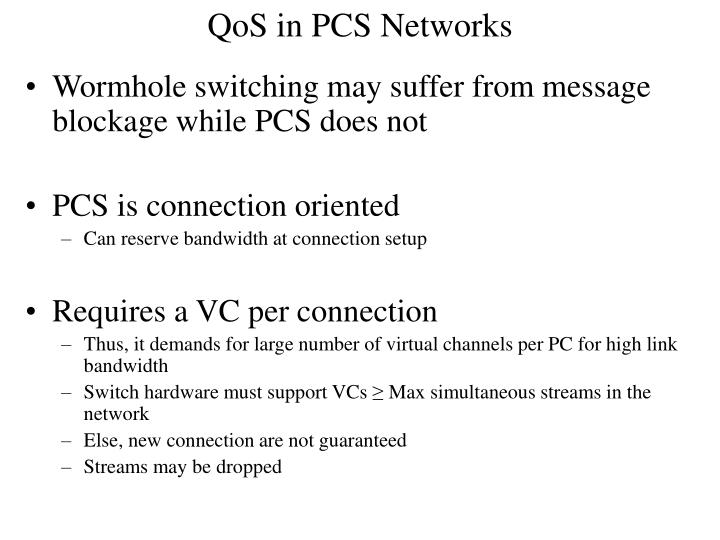 QoS in PCS Networks