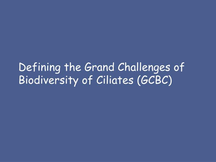 Defining the Grand Challenges of Biodiversity of Ciliates (GCBC)