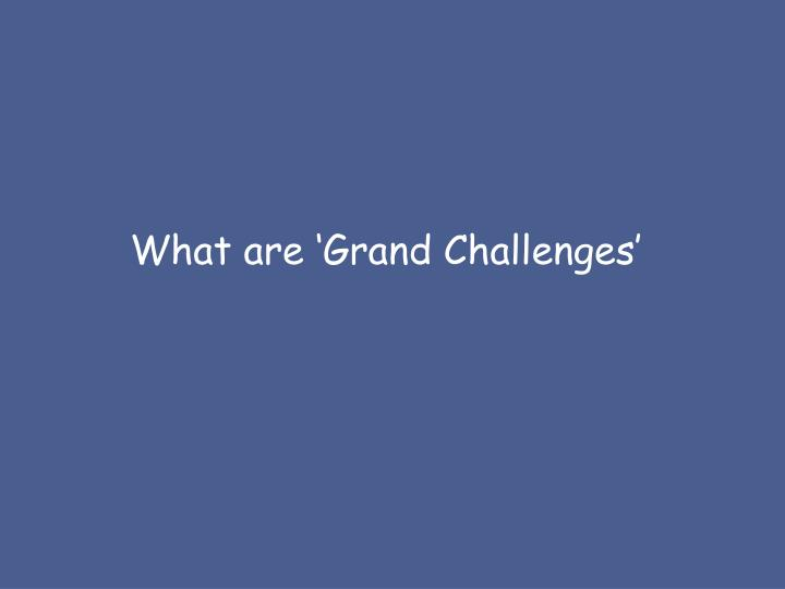 What are 'Grand Challenges'
