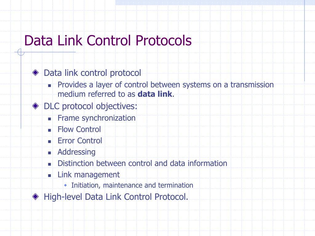 PPT - Data Link Control Protoc...