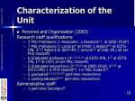 characterization of the unit12