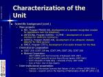 characterization of the unit5