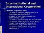 inter institutional and international cooperation1