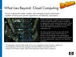 what lies beyond cloud computing