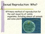 sexual reproduction who