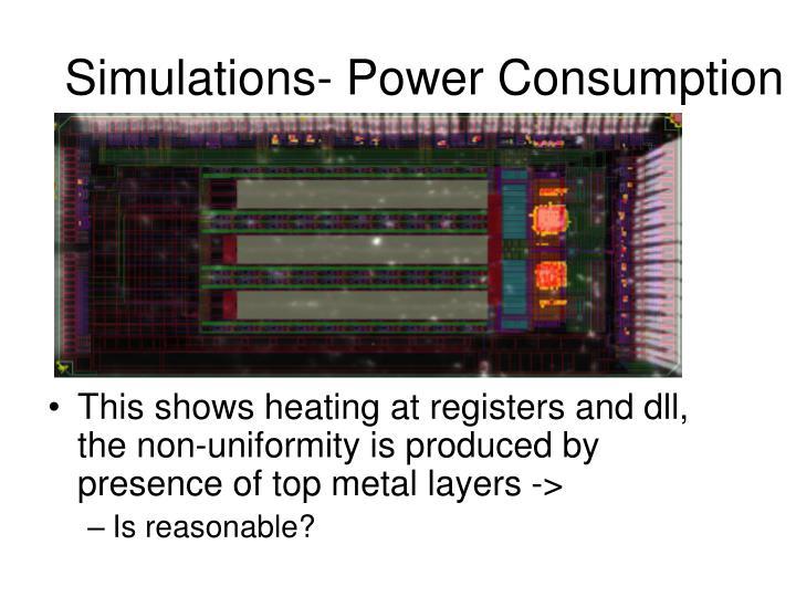 Simulations- Power Consumption