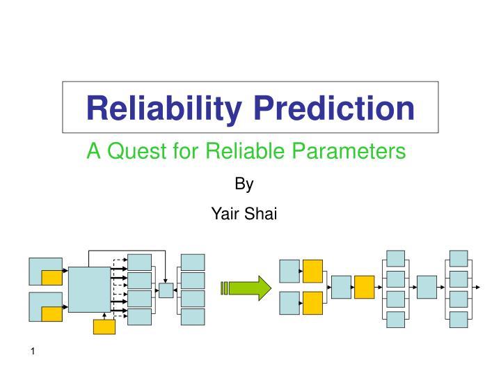 reliability prediction n.