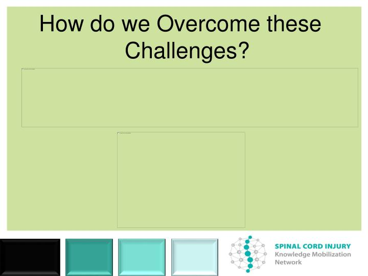 How do we Overcome these Challenges?