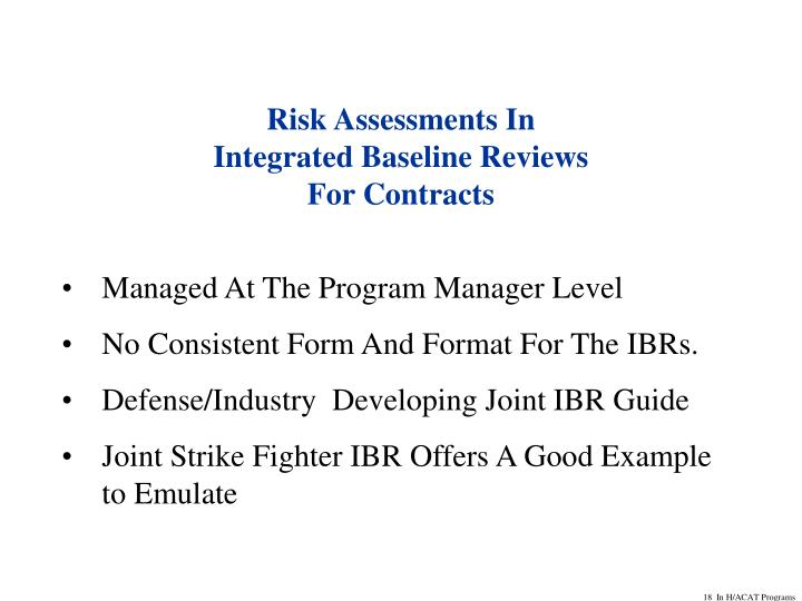 Risk Assessments In