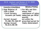 iv b analysis and review of cy 2009 financial statements