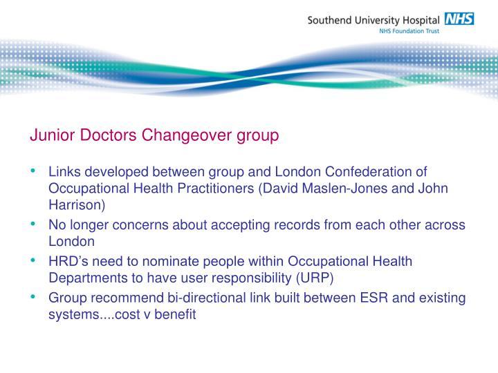 Junior Doctors Changeover group
