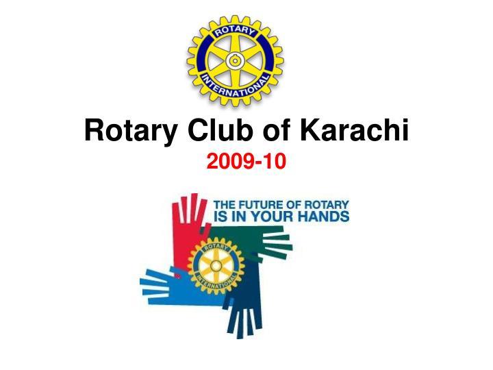 rotary club of karachi 2009 10 n.