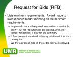 request for bids rfb