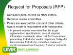 request for proposals rfp