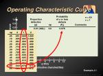 operating characteristic curve11