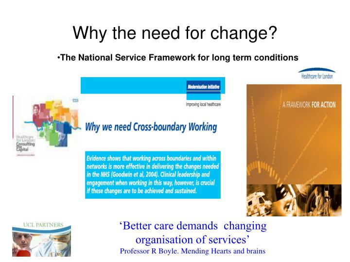 Why the need for change