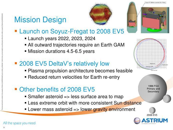 Mission design