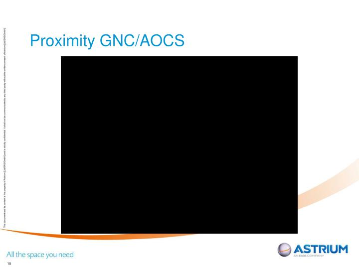 Proximity GNC/AOCS
