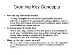 creating key concepts