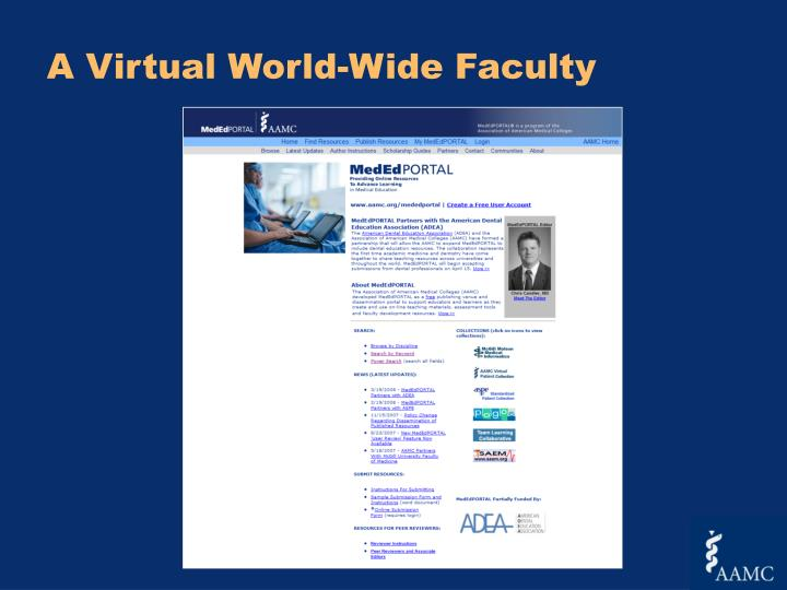 A Virtual World-Wide Faculty