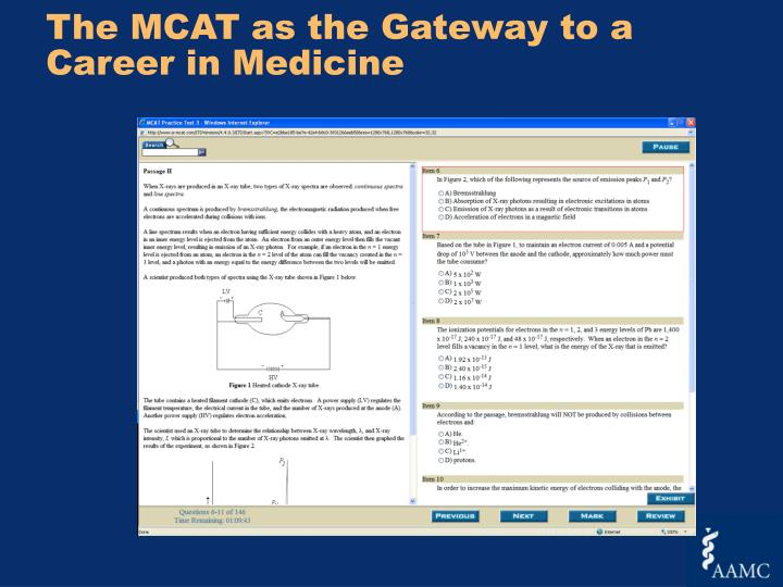The MCAT as the Gateway to a Career in Medicine