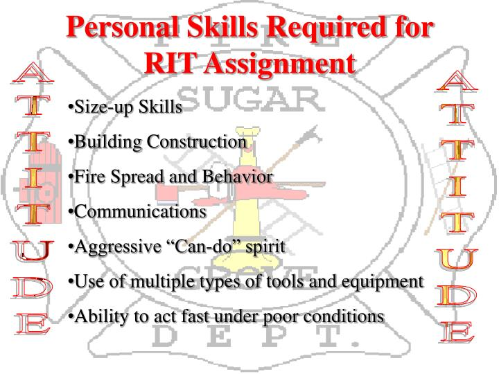 Personal Skills Required for RIT Assignment