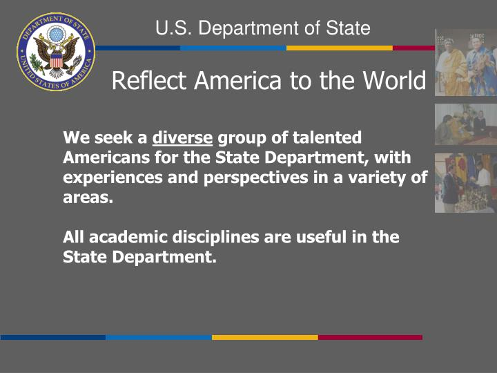 Reflect America to the World