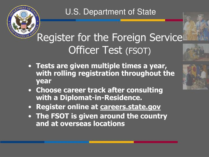Tests are given multiple times a year, with rolling registration throughout the year