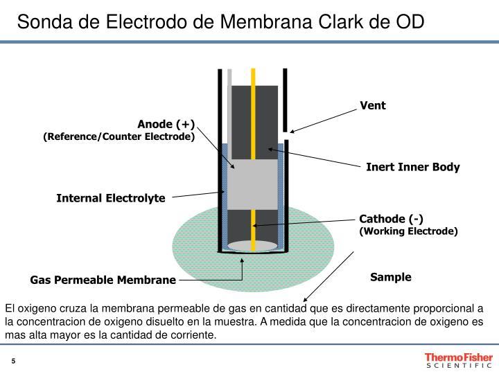 Sonda de Electrodo de Membrana Clark de OD