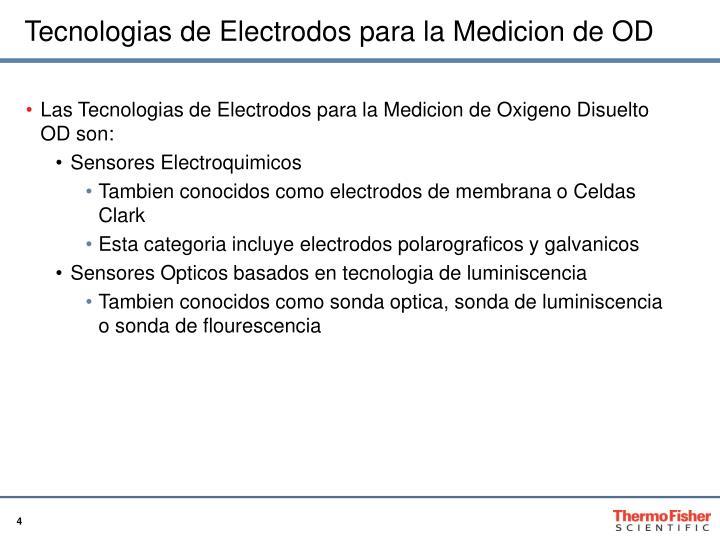 Tecnologias de Electrodos para la Medicion de OD