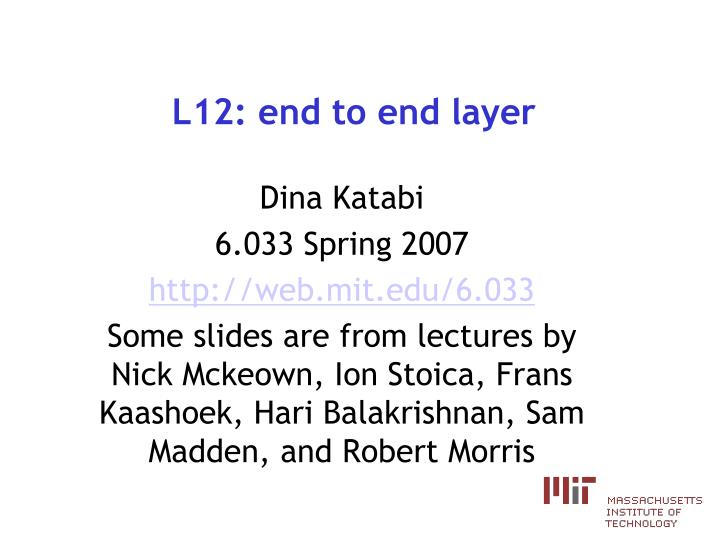 l12 end to end layer n.