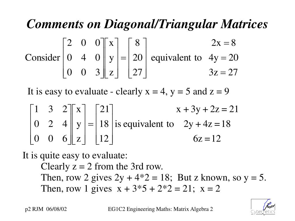 PPT - Matrix Algebra - Introduction Continued PowerPoint