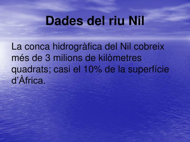 Dades del riu Nil