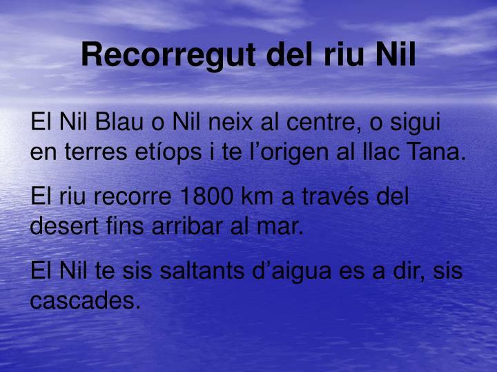 Recorregut del riu Nil