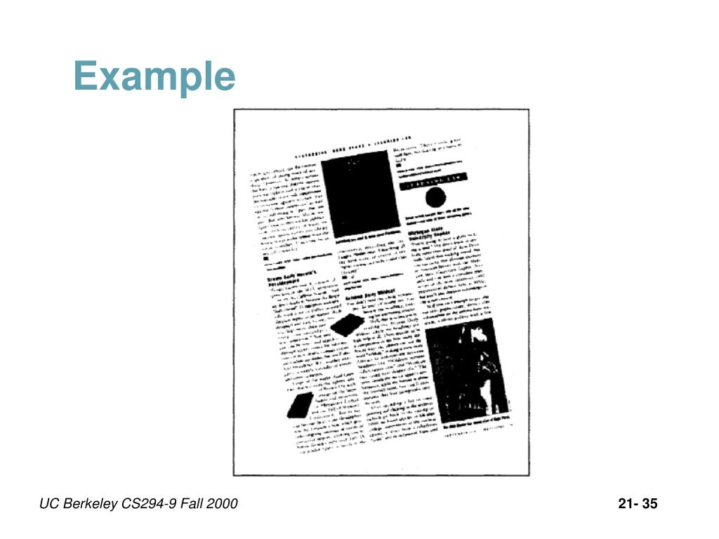 PPT - Document Image Analysis Lecture 21: Introduction to